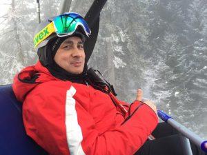 marcel iar la schi la munte