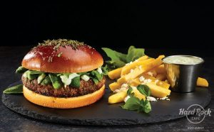 Chef's signature lamb burger