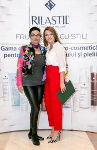 Ozana Barabancea si Diana Enache, Lansarea gamei de cosmetcie RILASTIL Italia